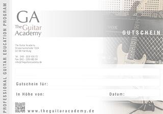 Gutschein - The Guitar Academy