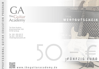 Wertgutschein - The Guitar Academy